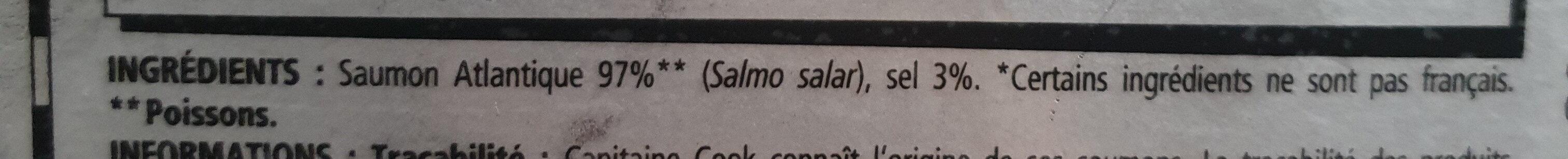 Saumon fumé Décosse - Ingrediënten