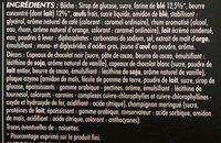 Bûche Pâtissière Pur Beurre Parfum Café - Ingrédients