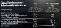 Bûche Pâtissière Pur Beurre Parfum Café - Informations nutritionnelles