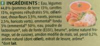 Potage St-eloi Légumes / Emmental - Ingredients