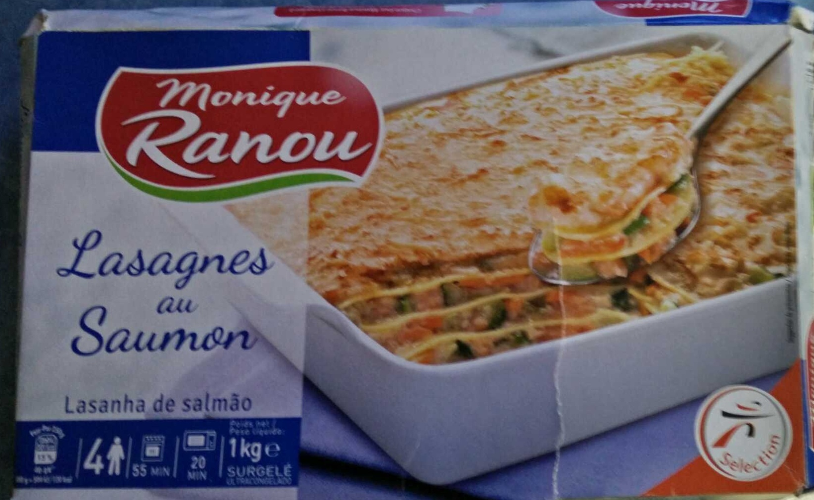 lasagnes au saumon monique ranou 1 kg. Black Bedroom Furniture Sets. Home Design Ideas