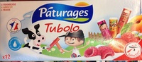 Tubes de fromage blanc aux fruits fraise/framboise/abricot - Produit