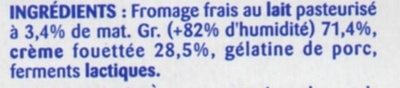 Lissea mousse nature 8x100g pâturages - Ingredients - fr