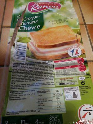 2 Croque-Monsieur Chèvre - Product - fr