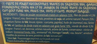 Cordons Bleus Cuit x 4 - Ingrédients