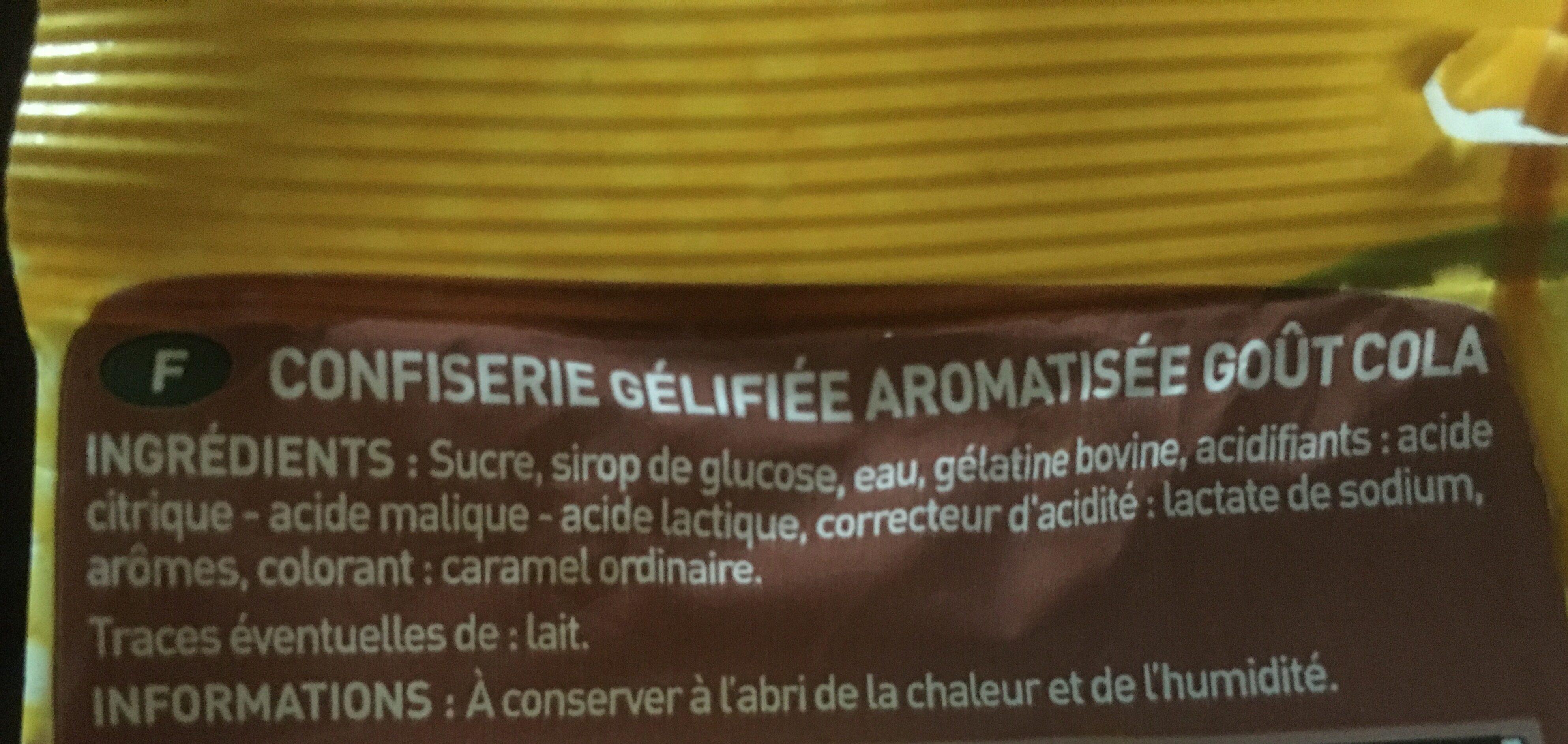 Cola Zoulou - Ingrédients - fr