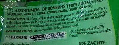 Carré Tendre aux Jus de Fruits - Ingrediënten - fr