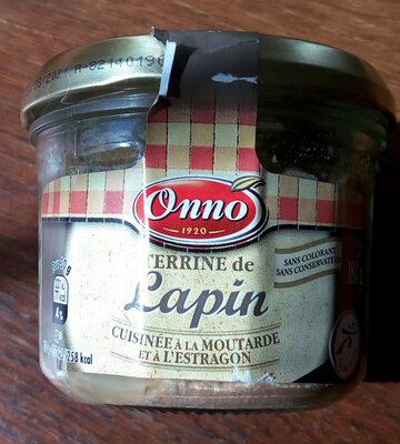 Terrine de lapin cuisinée à la moutarde et à l'estragon - Produit