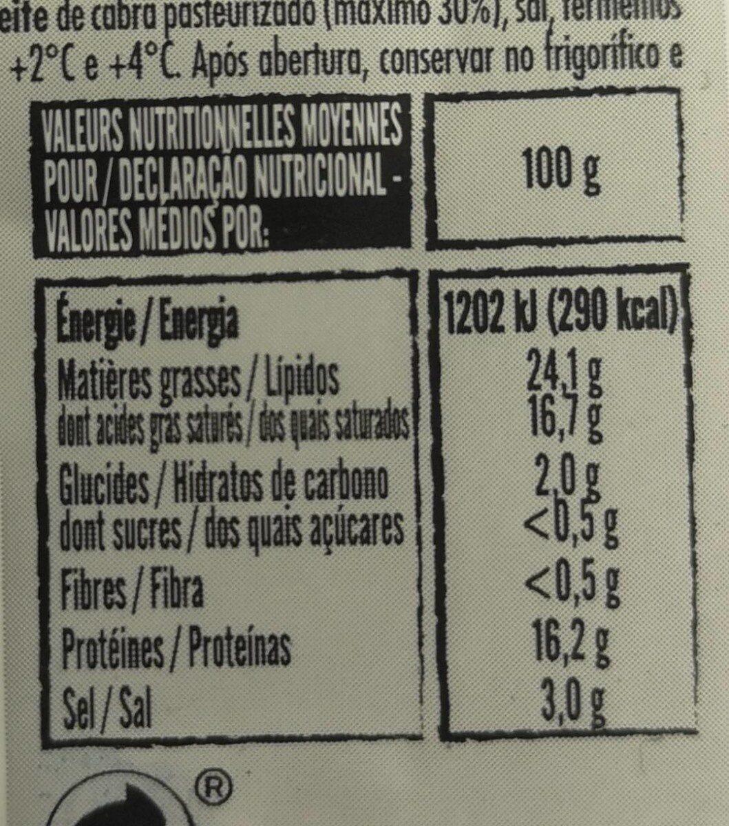 Feta grecque - Voedingswaarden - fr