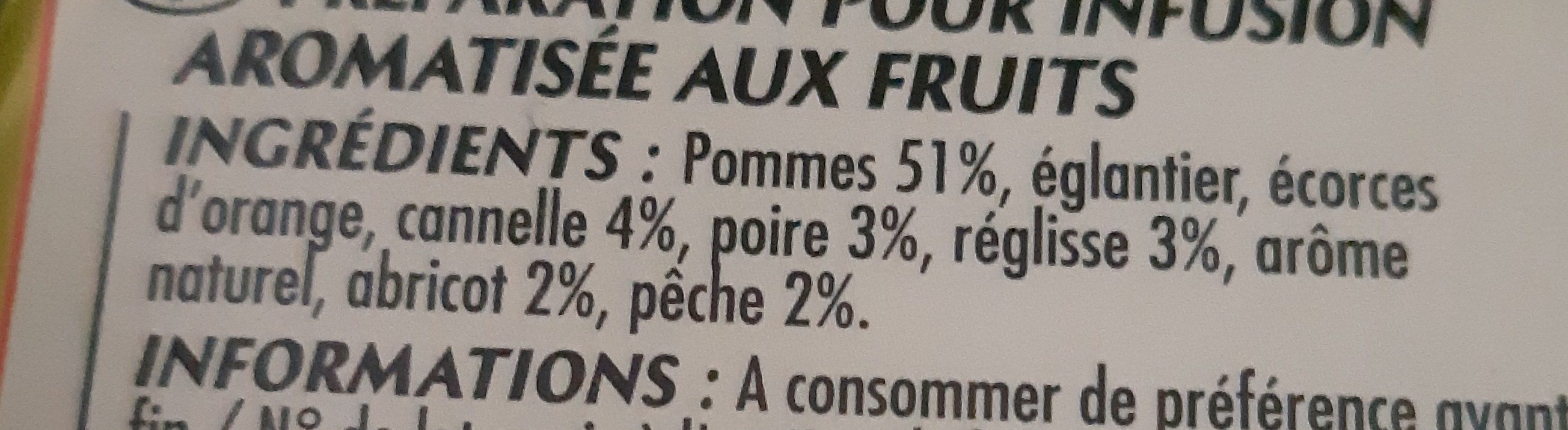 Infusion fruits du verger - Ingrediënten - fr