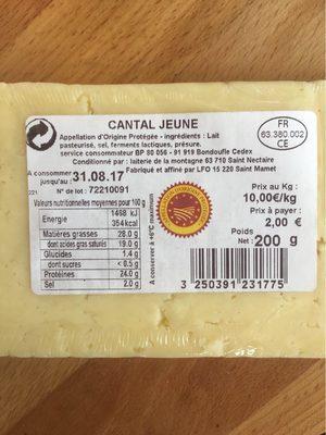 Cantal Jeune AOP - Produit - fr
