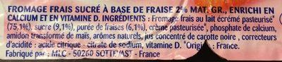 Suiss Fraise - Ingrédients