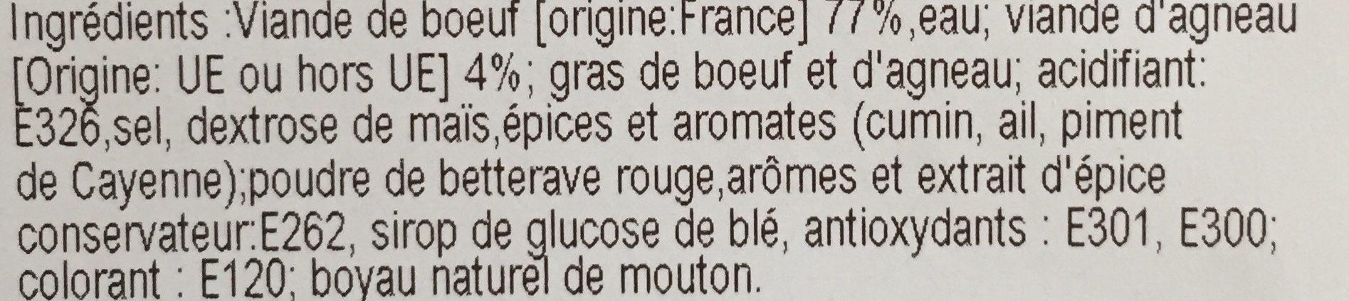 6 Merguez Véritables - Ingrédients - fr