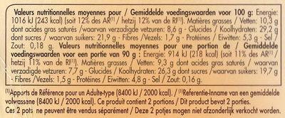 Tartufo - et son Coeur au Sabayon - Nutrition facts