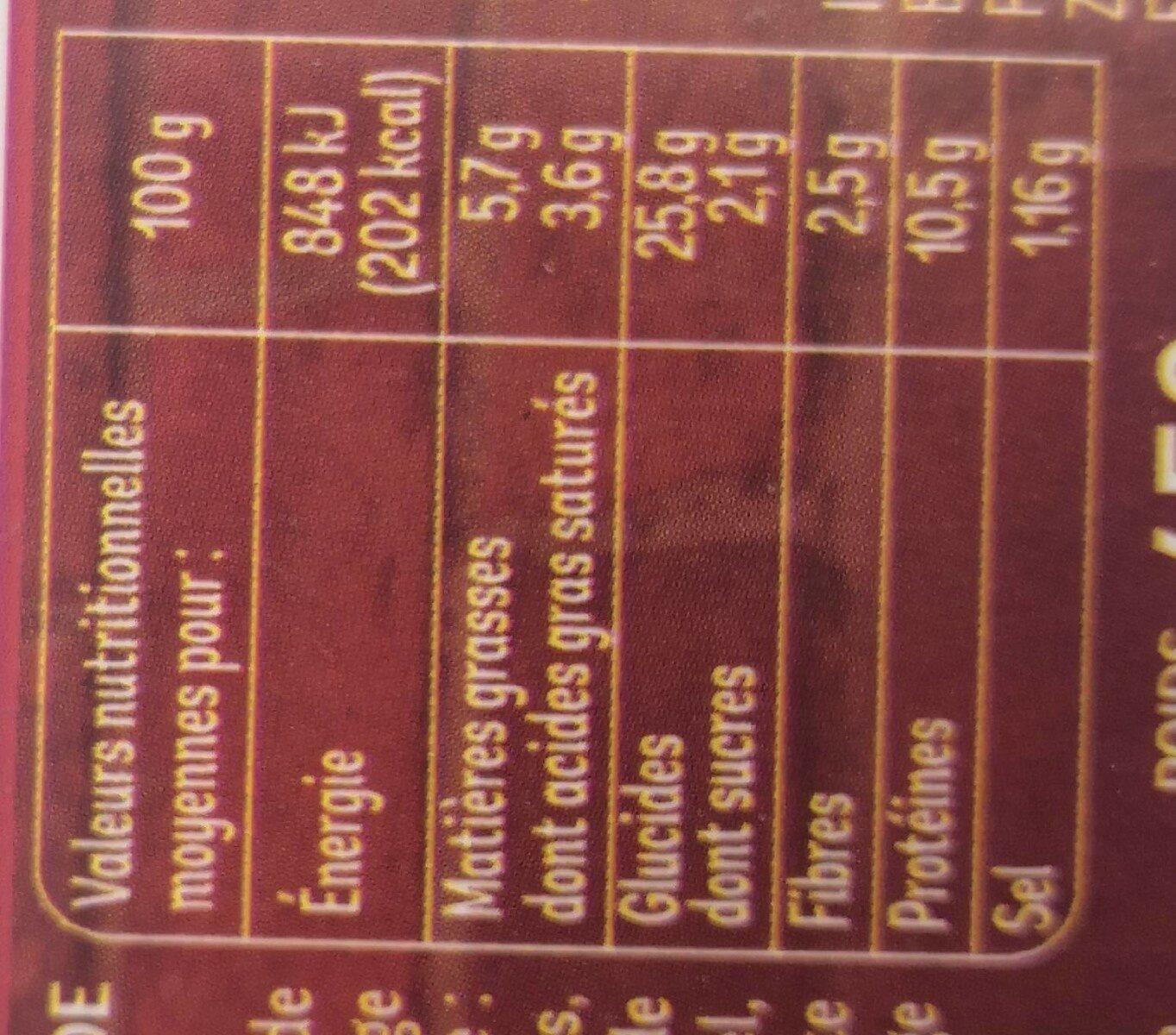 Pizza jambon emmental - Informations nutritionnelles - fr