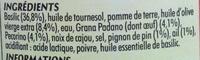 Pesto au Basilic - Ingrediënten - fr