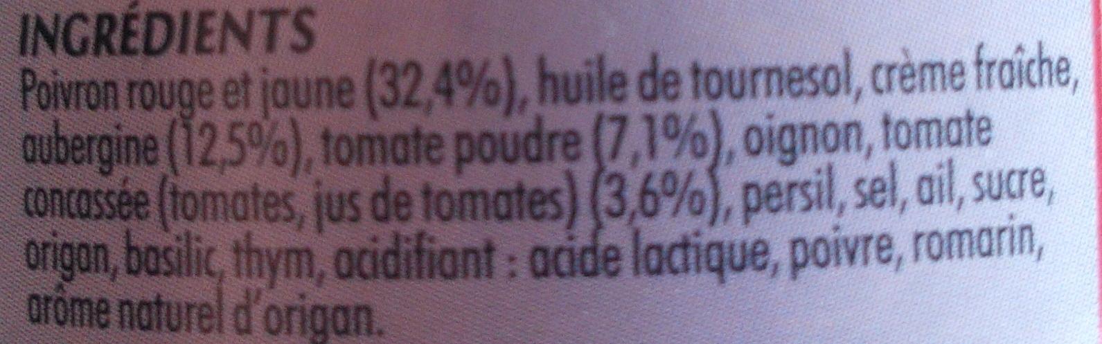 Poivrons Aubergines - Ingrédients - fr
