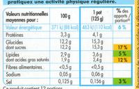 Bifidus saveur vanille (12 Pots) - Informations nutritionnelles - fr