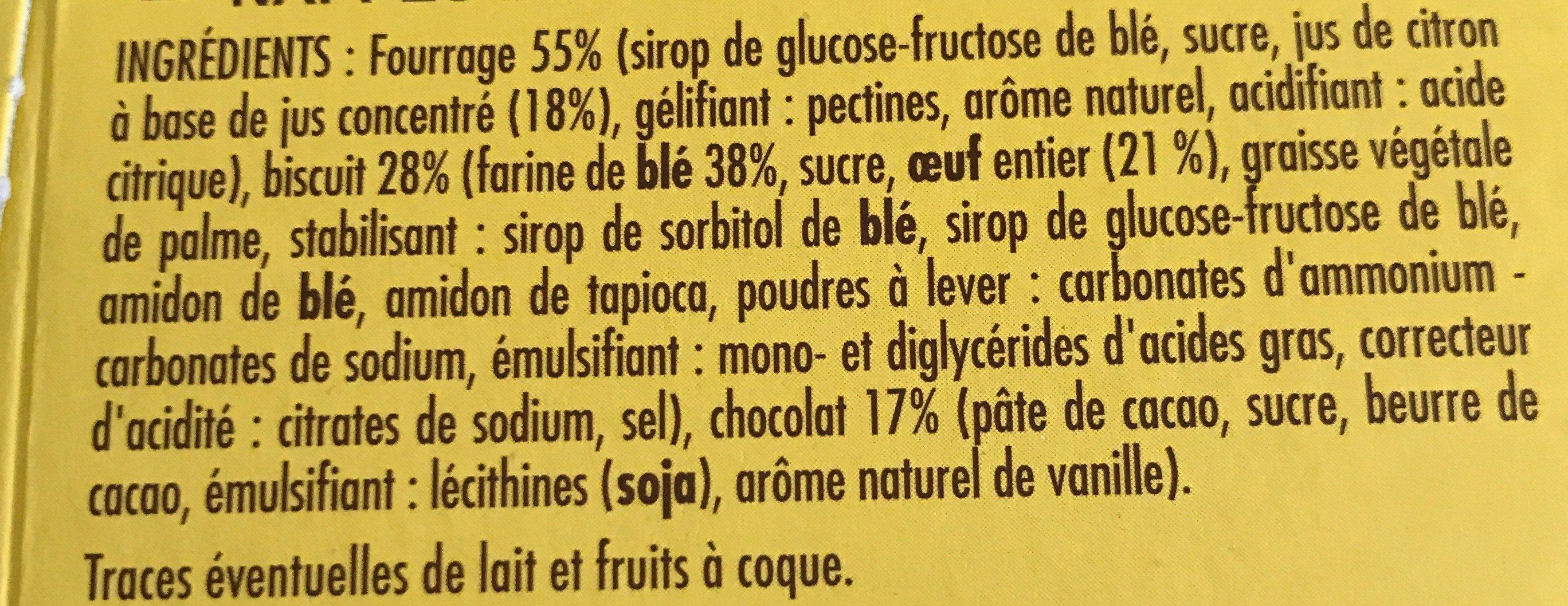 Sweet Génoises au Citron et au Chocolat noir - Ingredients
