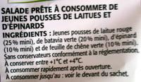 Mélange de Jeunes Pousses (4/5 portions) - Ingrediënten