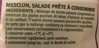 Mesclun - Ingrédients - fr