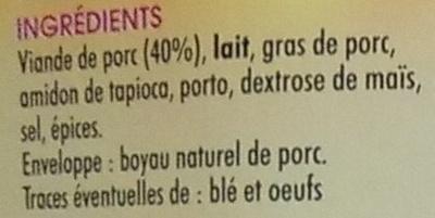 Boudin blanc - Ingrediënten
