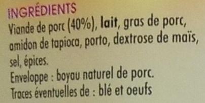 Boudin blanc - Ingrediënten - fr