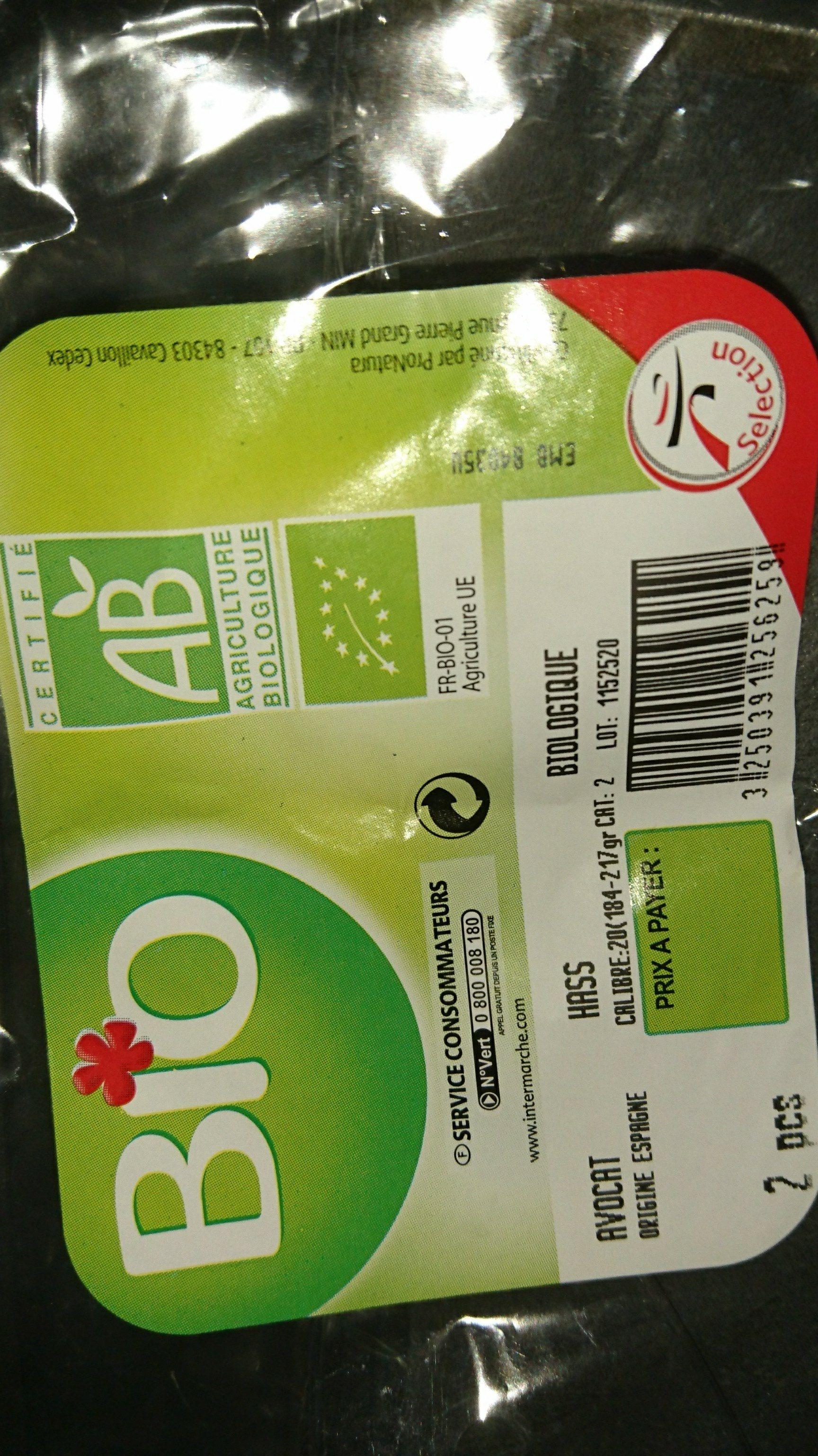 Avocat bio - Ingredients - fr