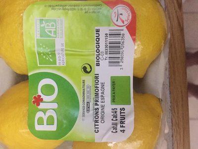 Citrons Bio - Ingrediënten - fr