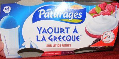 Yaourt à la grecque sur lit de fruits - Product