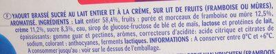 Yaourt à la grecque sur lit de fruits - Ingredients - fr