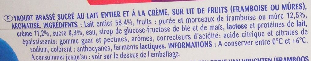 Yaourt à la grecque sur lit de fruits - Ingrédients - fr