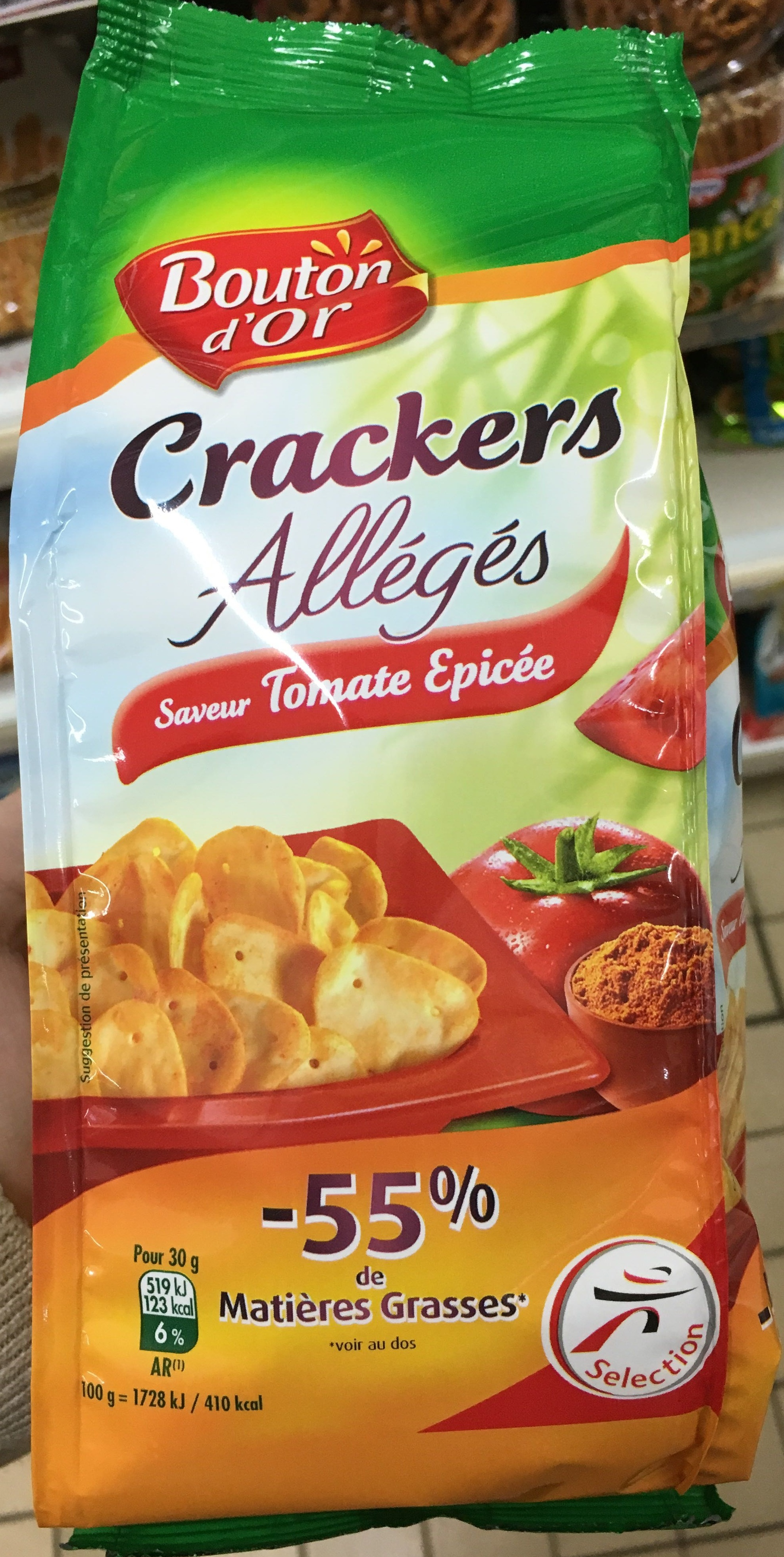 Crackers allégés saveur Tomate épicée - Product