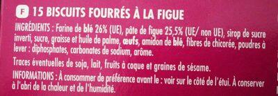 Sabléo au coeur moelleux Figues - Ingrediënten