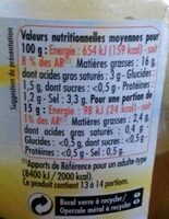 Olives vertes entières - Informations nutritionnelles - fr