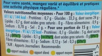 Sauce Barbecue - Informations nutritionnelles - fr