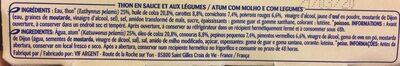 Thon Sauce à La Mayonnaise, Le Pack, 270g - Ingrédients - fr