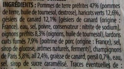 Poêlée de Gésiers de Canard, surgelée - Ingredienti - fr
