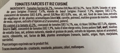 2 Tomates Farcies et Riz à la tomate - Ingredients