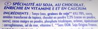 Soja chocolat (4 Pots) - Ingredients
