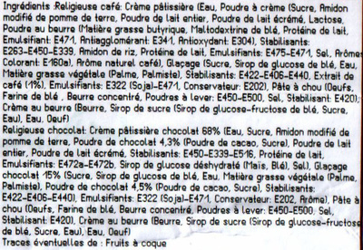 Religieuse cafe - Ingrédients - fr