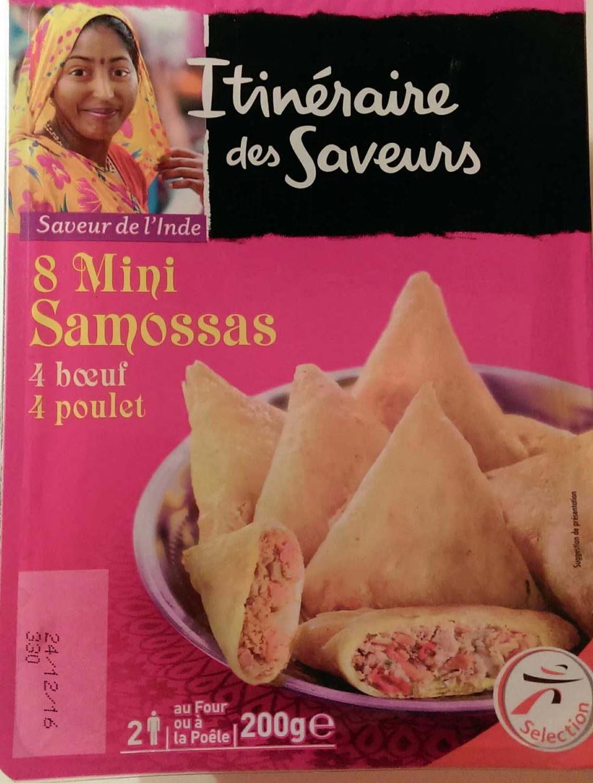 8 mini-samosas (4 boeuf et 4 poulet) - Produit