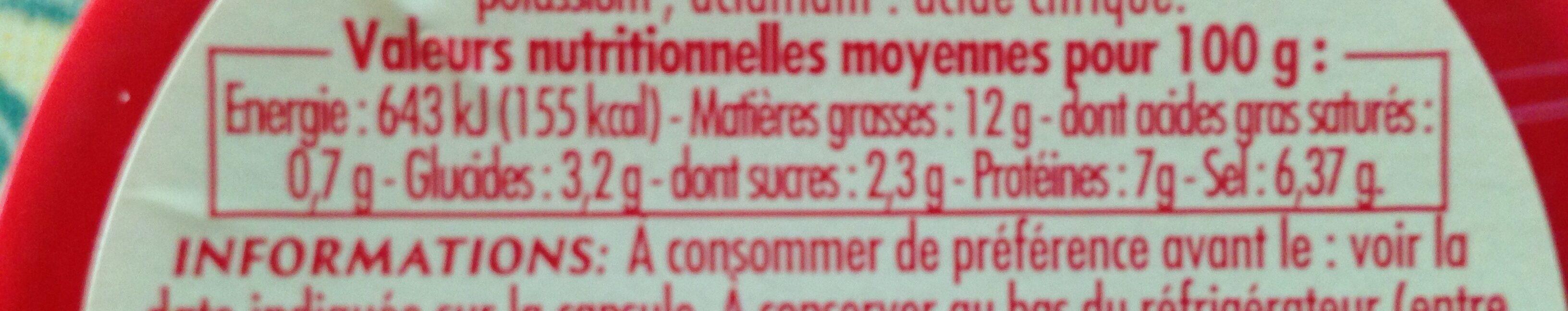Moutarde de dijon, verre cannelé - Ingrédients - fr