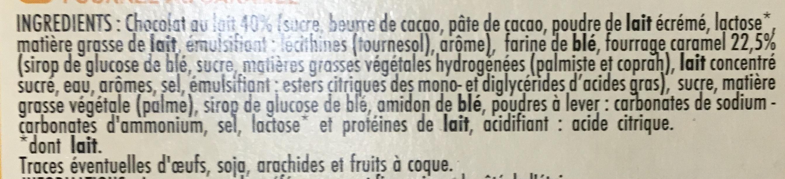 Tableau d'Honneur Choco Caramel - Ingrédients - fr