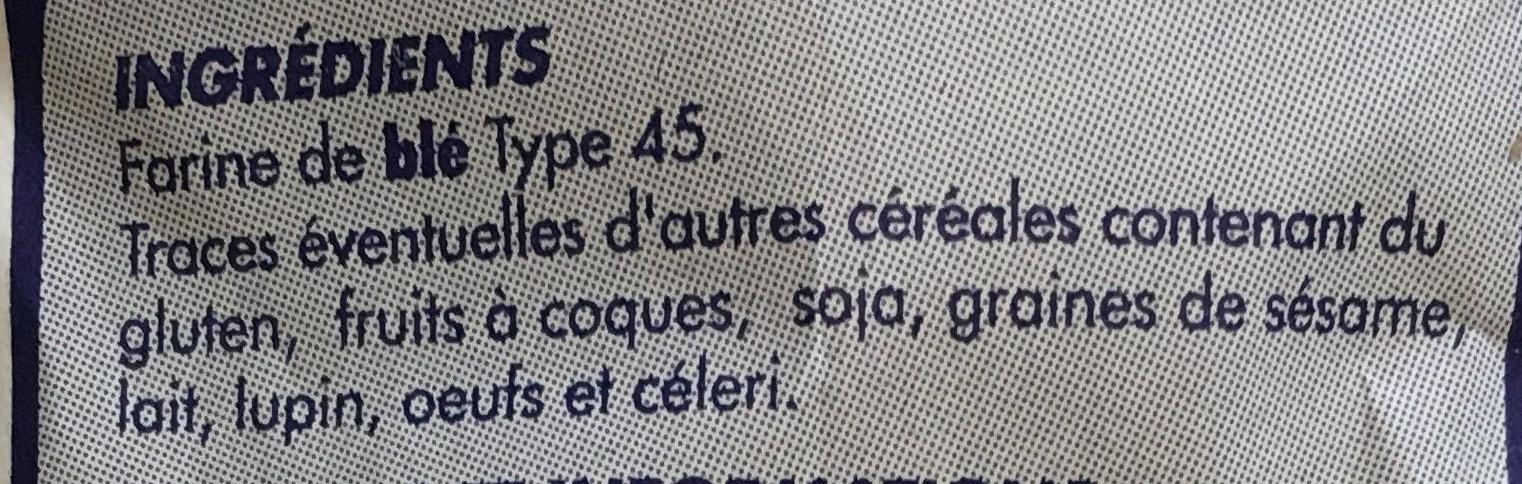Farine fluide sans grumeau - Ingrediënten - fr