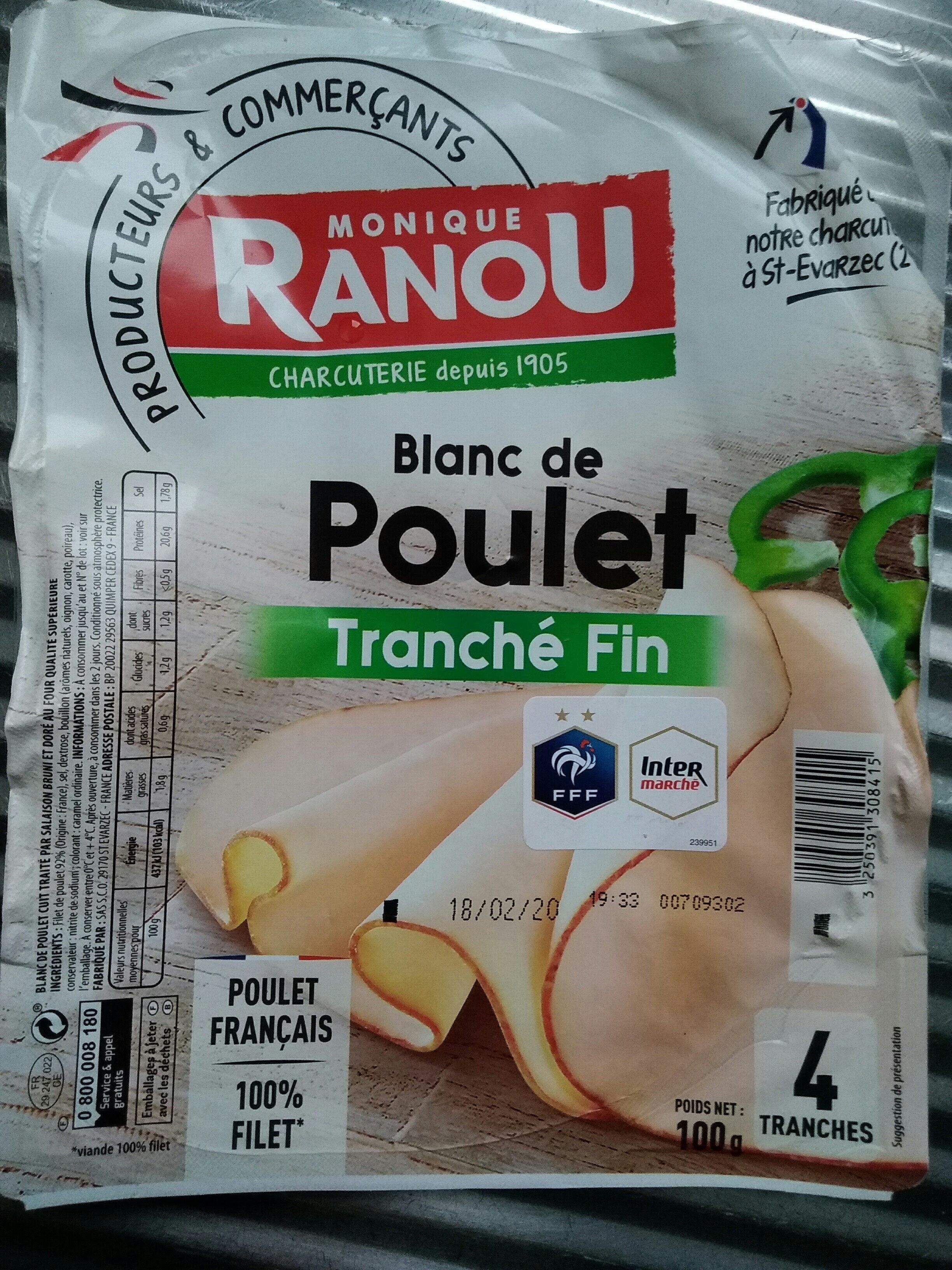 Mon tranche fin de poulet, barquette de 4 tranches - Product - fr