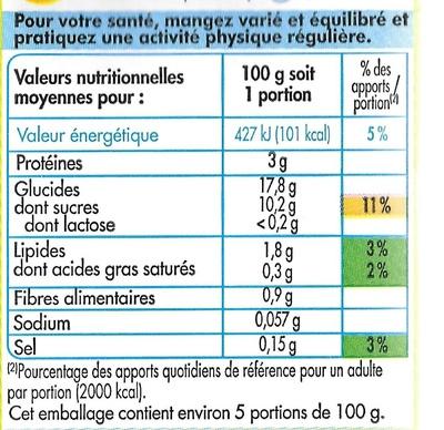 Dessert au Soja, Saveur Vanille - Voedingswaarden - fr