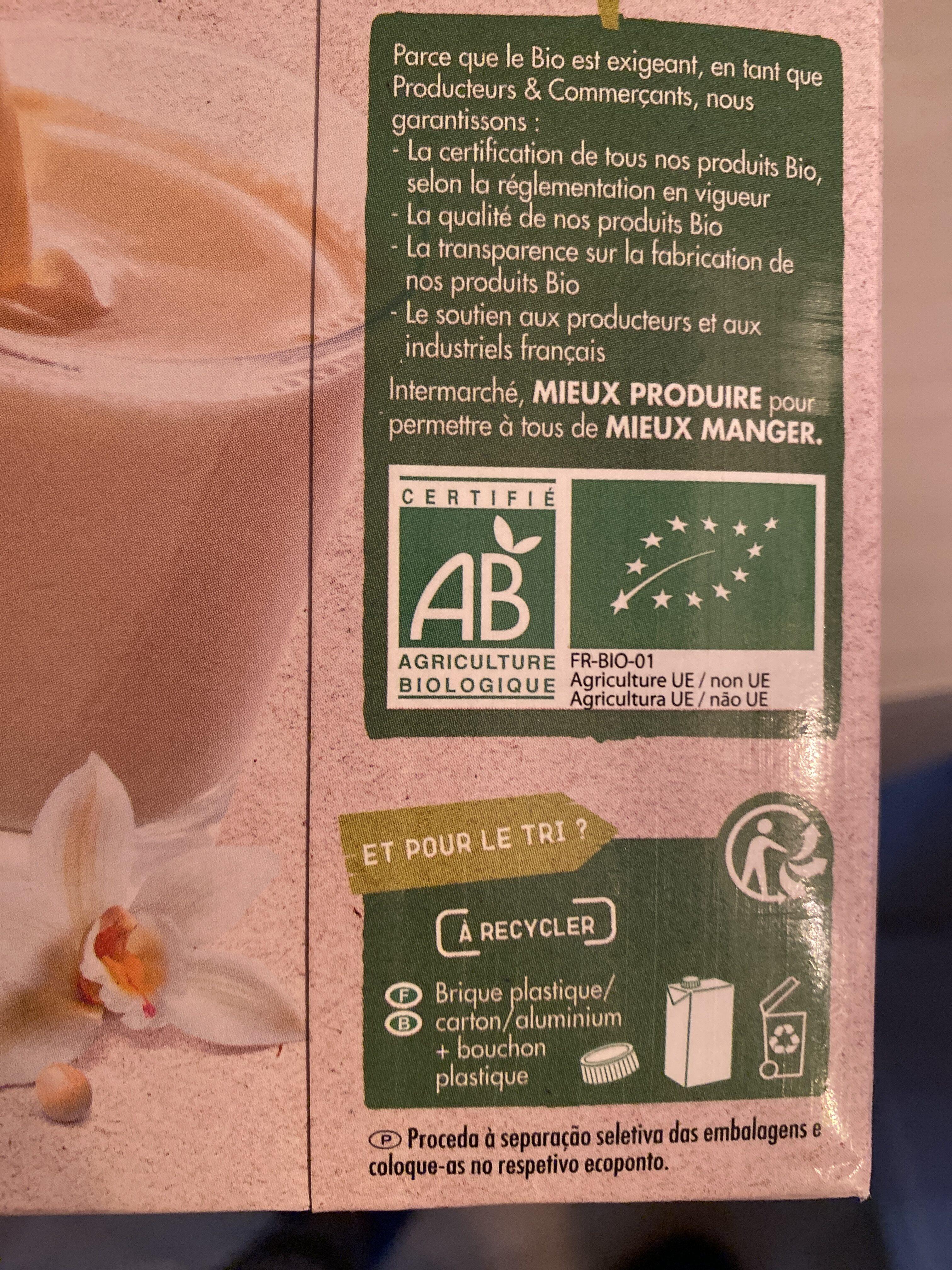 Boisson au Soja, Saveur Vanille - Instruction de recyclage et/ou information d'emballage - fr