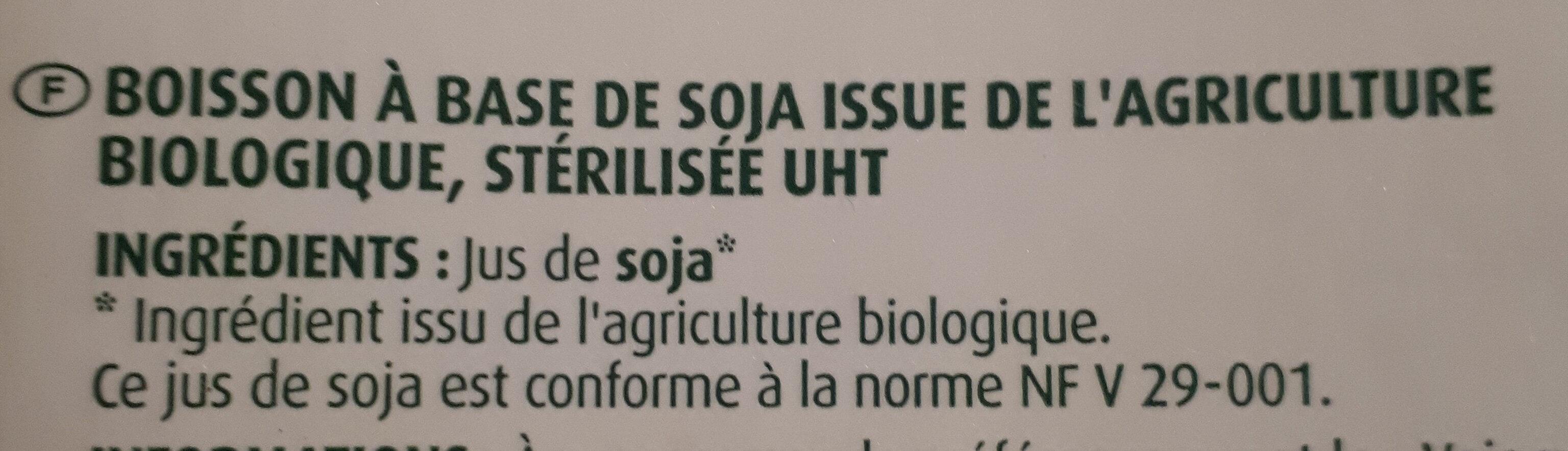 Boisson au soja nature BIO - Ingredients - fr
