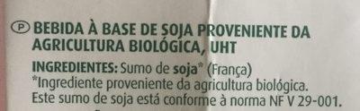 Boisson au Soja - nature - Ingredients